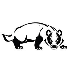 european badger logo vector image