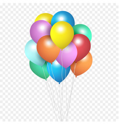 festive balloons group colour helium balloons vector image