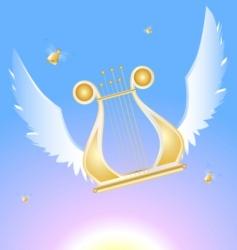 flying lira vector image