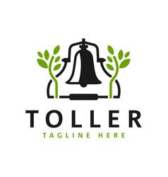 Green bell inspiration logo design vector