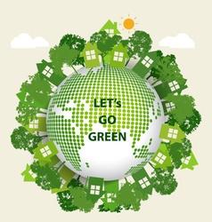 Green Eco Earth vector image