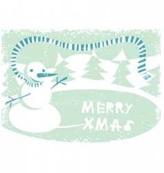 grunge winter card vector image vector image