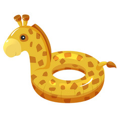 inflatable summer circle giraffe water cute toy vector image