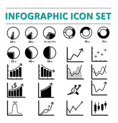 infographic icon set vector image