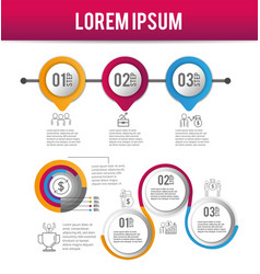 infographic strategy data process plan vector image