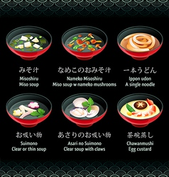 Japanese soup vector image