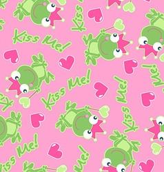 Kiss me frog vector