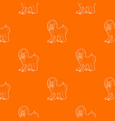 mandrill pattern orange vector image