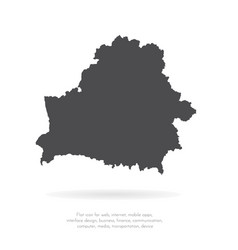 map belarus isolated black vector image