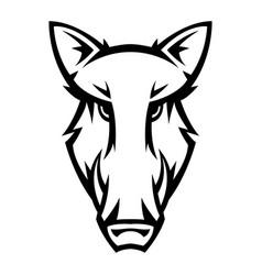 mascot stylized boar head vector image
