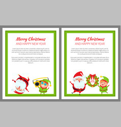 merry christmas fun and joy vector image