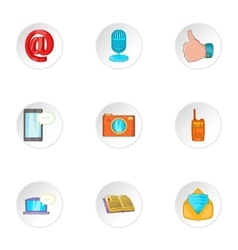 Messages icons set cartoon style vector