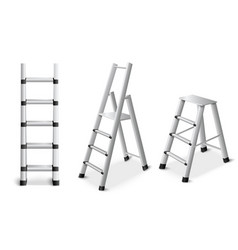 Metal ladders realistic set vector