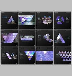 minimal brochure templates with triangular design vector image