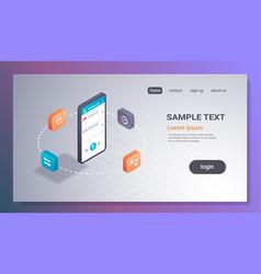 mobile translator application online translation vector image