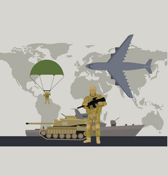 modern armed forces types flat concept vector image