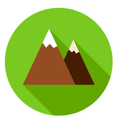 mountain peak circle icon vector image