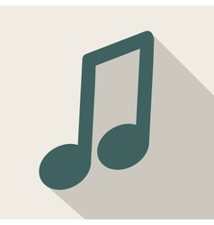 Music web iconflat design vector image