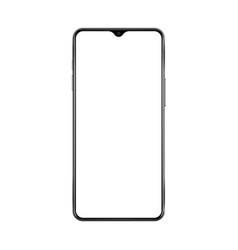 new version black thin frame smartphone vector image