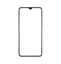 new version of black thin frame smartphone with vector image