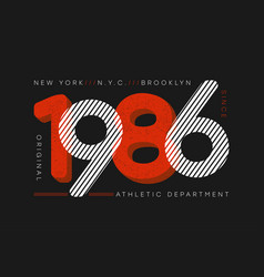 New york city athletic typography for t-shirt vector