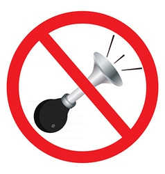 No sound sign vector image