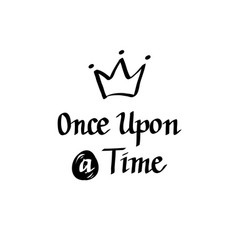 Once upon a time italic calligraphy design vector
