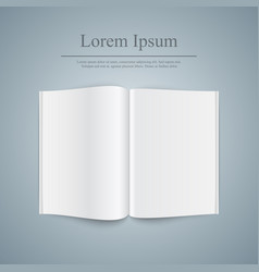 open book on the grey background vector image vector image