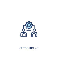 Outsourcing concept 2 colored icon simple line vector