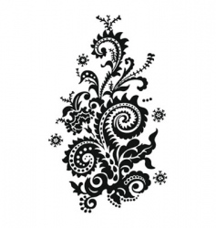 paisley floral design vector image
