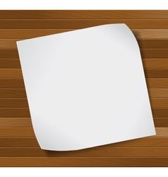 Paper sheet over wooden background vector image