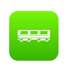 Passenger carriage icon green vector