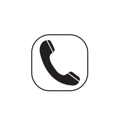 phone call solid icon incoming and vintage vector image vector image