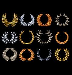 Premium elegant wreathes set vector