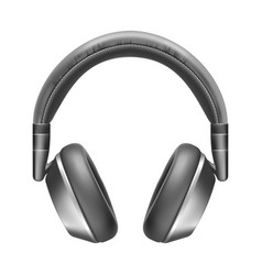 realistic headphones wireless sound vector image