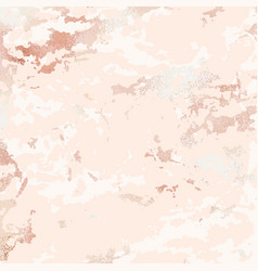 Rose marble elegant background with rose gold vector