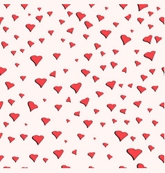 seamless pattern for valentines day cute hearts vector image