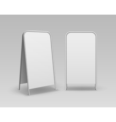 Set of Blank Advertising Handheld Sandwich Stands vector