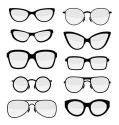 Set stylish glasses vector