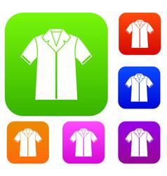 shirt polo set collection vector image