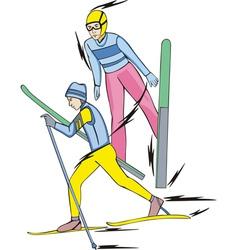 Skiing Nordic Combined vector