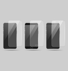 smartphone screenprotector set vector image