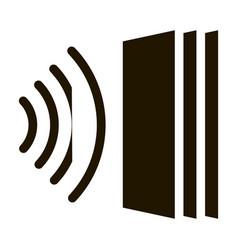 sound heading for door icon glyph vector image