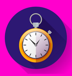 stopwatch icon symbol race of vector image