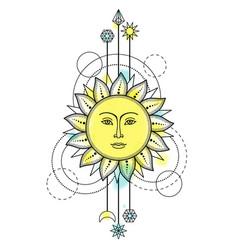 Sun modern symbol vector