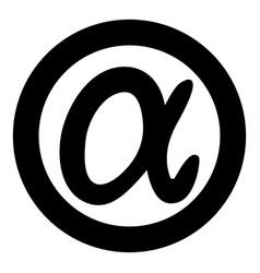 Symbol alpha icon black color simple image vector