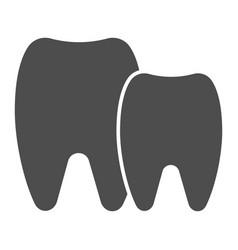 Teeth solid icon dental vector