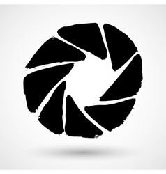 The diaphragm icon Grunge aperture symbol vector image