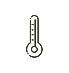 thermometer temperature hot or cold nature line vector image
