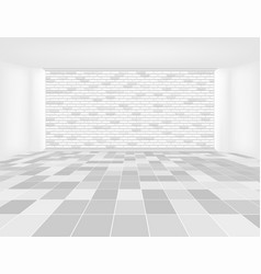 Tile floor brick wall vector